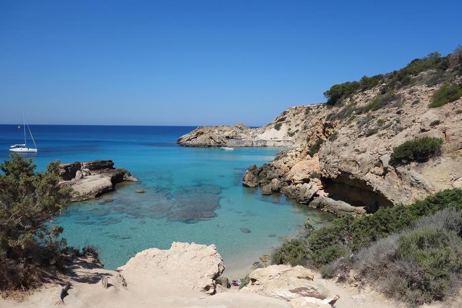 caletta sul mare Ibiza