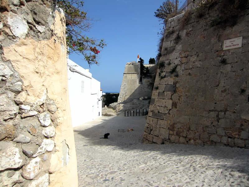 scorcio della Dalt Vila a Ibiza toen