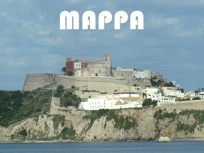 Mappa di Ibiza